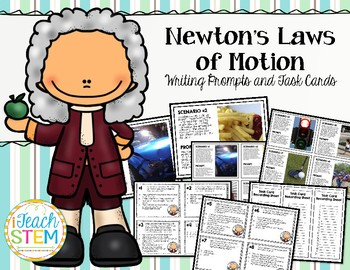 STEM: Forces & Motion Newton's Laws Writing Prompts and Ta