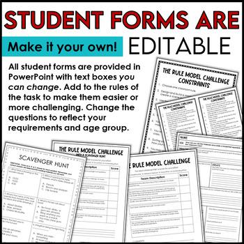 STEM Freebie Back to School Rules Challenge