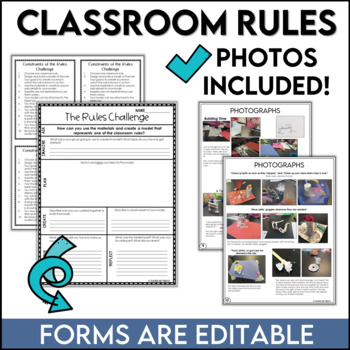 STEM Challenge Back to School Rules FREEBIE