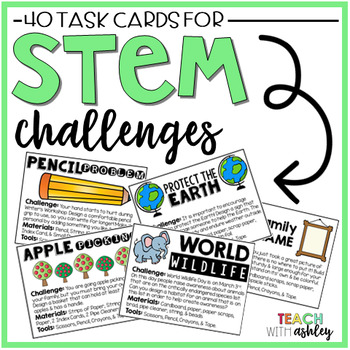 STEM Challenge Task Cards by Talkin Pinata