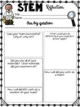 STEM-Graphic Organizers for Design and Reflection