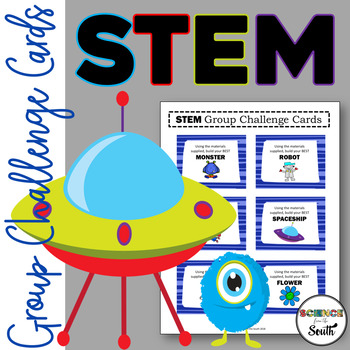 STEM Group Challenge Cards Perfect for A Beginning of the Year Activity