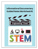 "Engineering ""Clean"" : STEM Guided Movie Notes"
