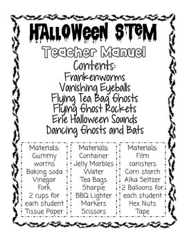 STEM Halloween Science Experiments