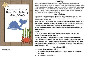 STEM Harcourt Journey Lesson 16 Dear Mr. Blueberry