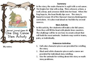 STEM Harcourt Journey Lesson 18 One Dog Canoe Activities