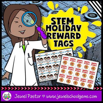 STEM Holiday Brag Tags (Science Brag Tags)
