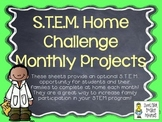 STEM Home Challenges for Every Month - Vol. 1 ~ 14 Project Sheets for the Year!