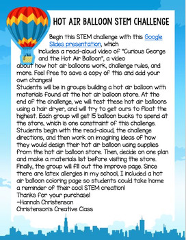 STEM Hot Air Balloon Challenge