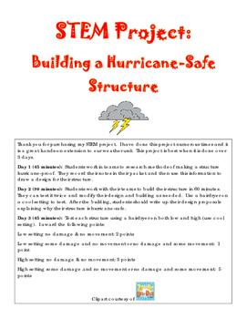 STEM Weather Activity - Hurricane-Safe Structure