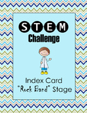 STEM Challenge:  Index Card Stage