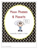 STEM: Inquiry based Moon Phases & Planets: Vocab*Games*Labs*Study Guide & Test