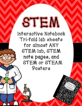 STEM Interactive Notebook Templates for almost ANY Lab and Posters