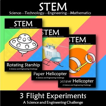 STEM Introduction Experiment Challenge Wall Display Bundle