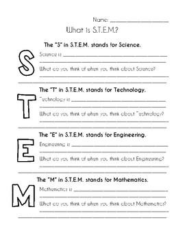 STEM Introduction Worksheet