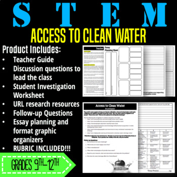 STEM Activity-Access to Clean Water