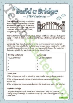 STEM Investigation - Build a Bridge