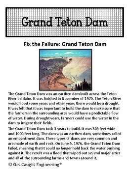 STEM Investigation: Fix the Failure - The Grand Teton Dam