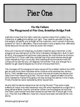 STEM Investigation:              Fix the Failure - The Pier One Playground