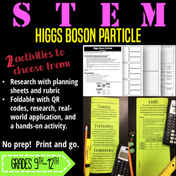 STEM Research and Foldable-Higgs Boson Particle