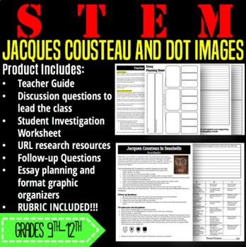 STEM Activity-Jacques Cousteau and Dot Images
