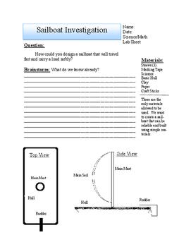 STEM Investigation Sailboat Student Investigation Pages