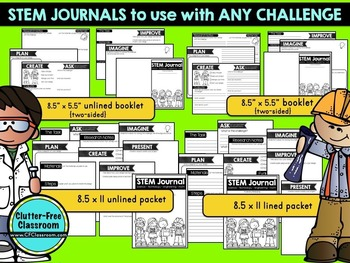 STEM journal | STEM recording sheet | STEM reflection | NGSS | STEM Challenge