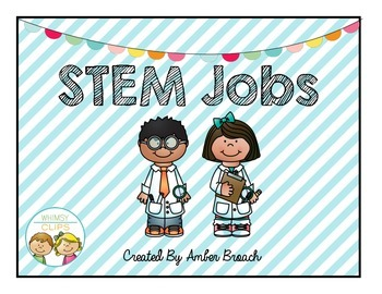 STEM Jobs-Green, Teal, Red, Yellow, Blue