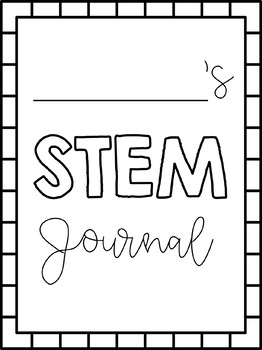 STEM Journal Cover Pages FREEBIE!