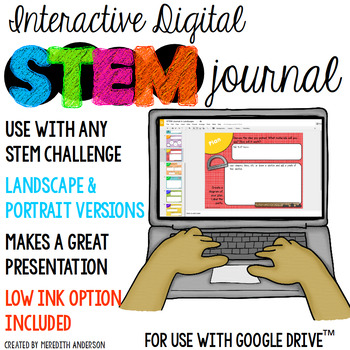 STEM Journal - Digital Version for use with any STEM Challenge