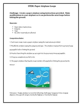 STEM Jumpstart Activities (Catapult, Airplane, Sculpture, Index Card Tower)