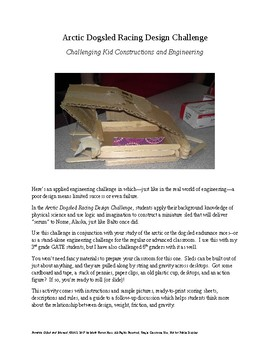 Arctic Dogsled Racing Design Challenge - STEAM for Upper Elementary
