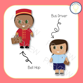 Travel Jobs Kids | Clip Art Set