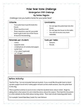 STEM - Kindergarten: Polar Bear Home Challenge