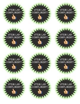 STEM Lab Compliment Badges- Positive Behavior Management
