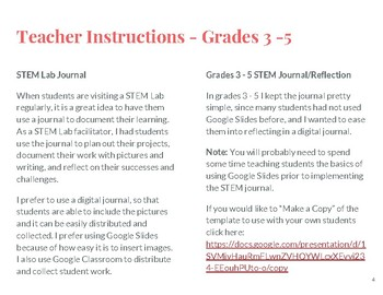 Stem Lab Journalreflection Google Slides By Love Fleck Edtech