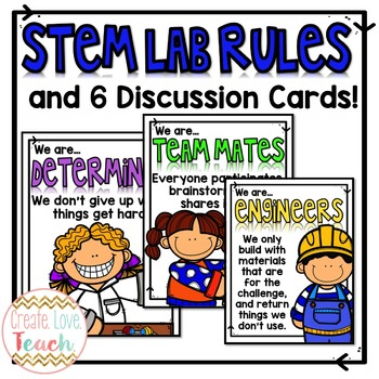 STEM Lab Rules Posters and Discussion Cards