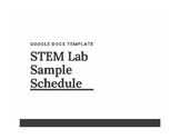 STEM Lab Sample Schedule (Google Docs)
