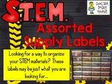 STEM Labels for Materials - Set of 32 & Editable Labels