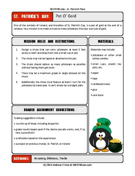 STEM Labs Pack - St Patricks Spring Projects Pack of 10 Holiday-Themed Projects