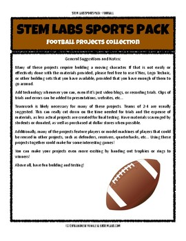 STEM Labs Sports Pack - Football Super Bowl Projects Pack of 11 STEM Projects