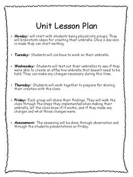 STEM Lesson - Creating an Umbrella