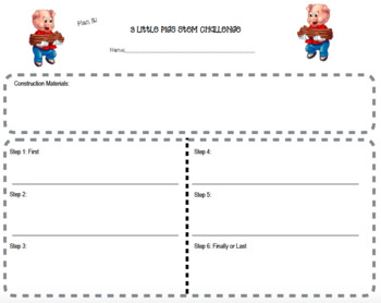 STEM & Literacy Challenge - 3 Little Pigs