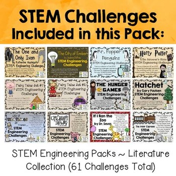 STEM Literature Challenge Pack Collection on  CDs ~61 Total Challenges