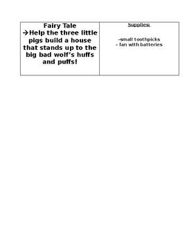 STEM MATH ACTIVITIES editable -September cards