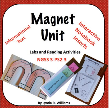 Magnet Unit with Interactive Notebook Flaps and Folds