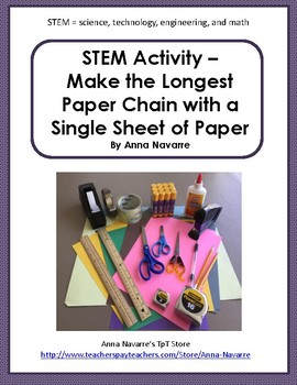 STEM - Make the Longest Paper Chain with a Single Sheet of Construction Paper