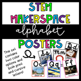 STEM Makerspace Alphabet Posters {Script and Cursive} with Photographs