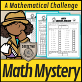 STEM Math Murder Mystery Addition #30 A Math Challenge