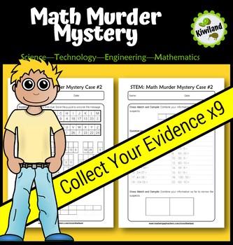 STEM Math Murder Mystery Bundle: 9 Math Challenges